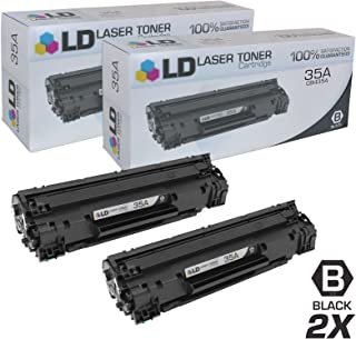 LD Compatible Toner Cartridge Replacements for HP 35A CB435A (Black, 2-Pack)