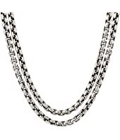 John Hardy - Classic Chain Box Chain Necklace with Figurative Naga Lobster 2.6 mm.