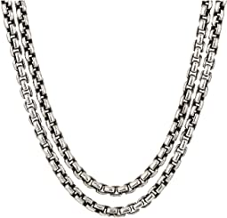 Classic Chain Box Chain Necklace with Figurative Naga Lobster 2.6 mm.