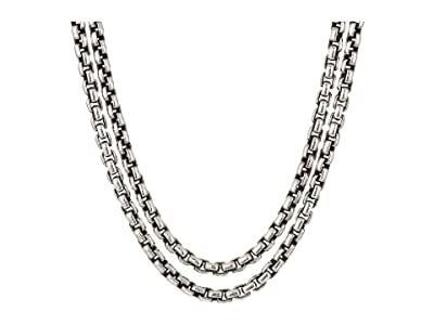John Hardy Classic Chain Box Chain Necklace with Figurative Naga Lobster 2.6 mm. (Silver) Necklace