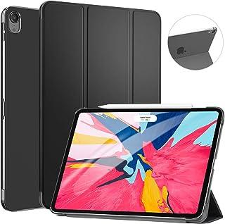 Ztotop ipad Pro 11 ケース(2018秋新型モデル) 軽量 薄型 ペンの充電に対応 半透明 三つ折スタンド オートスリープ機能 周辺保護 2018秋発売のiPad Pro 11に対応 スマートカバー (ブラック)