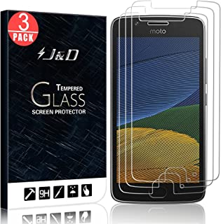J&D Compatible for 3-Pack Moto G5 Glass Screen Protector, [Tempered Glass] [Not Full Coverage] Ballistic Glass Screen Protector for Motorola Moto G5 Screen Protector - [NOT for Moto G5 Plus]