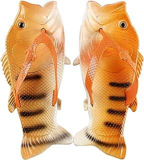 JACKSHIBO Womens Fish Animal Slippers Fashion Non-slip Summer Beach Sandals Casual Walking Shoes
