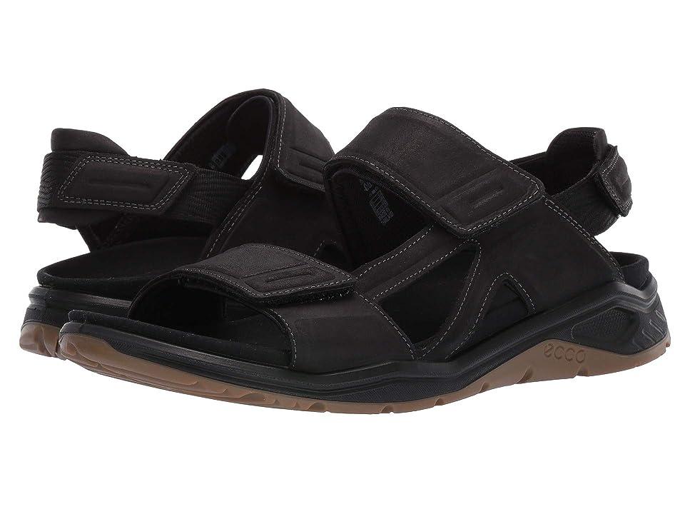 UPC 809704915722 product image for ECCO Sport X-Trinsic Leather Sandal (Black Yak Nubuck) Men's Sandals | upcitemdb.com