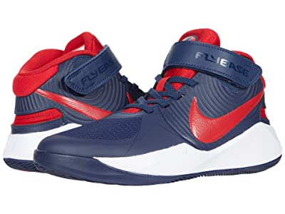 Nike Kids FlyEase Team Hustle D9 (Big Kid) (Midnight Navy/University Red/White) Kids Shoes