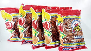 PACK 5 OF CHACA-CHACA AUTHENTIC MEXICAN CANDY OF FRUITS WITH SALT AND CHILI 400gram Authentic Mexican Candy with Free Chocolate Kinder Bar