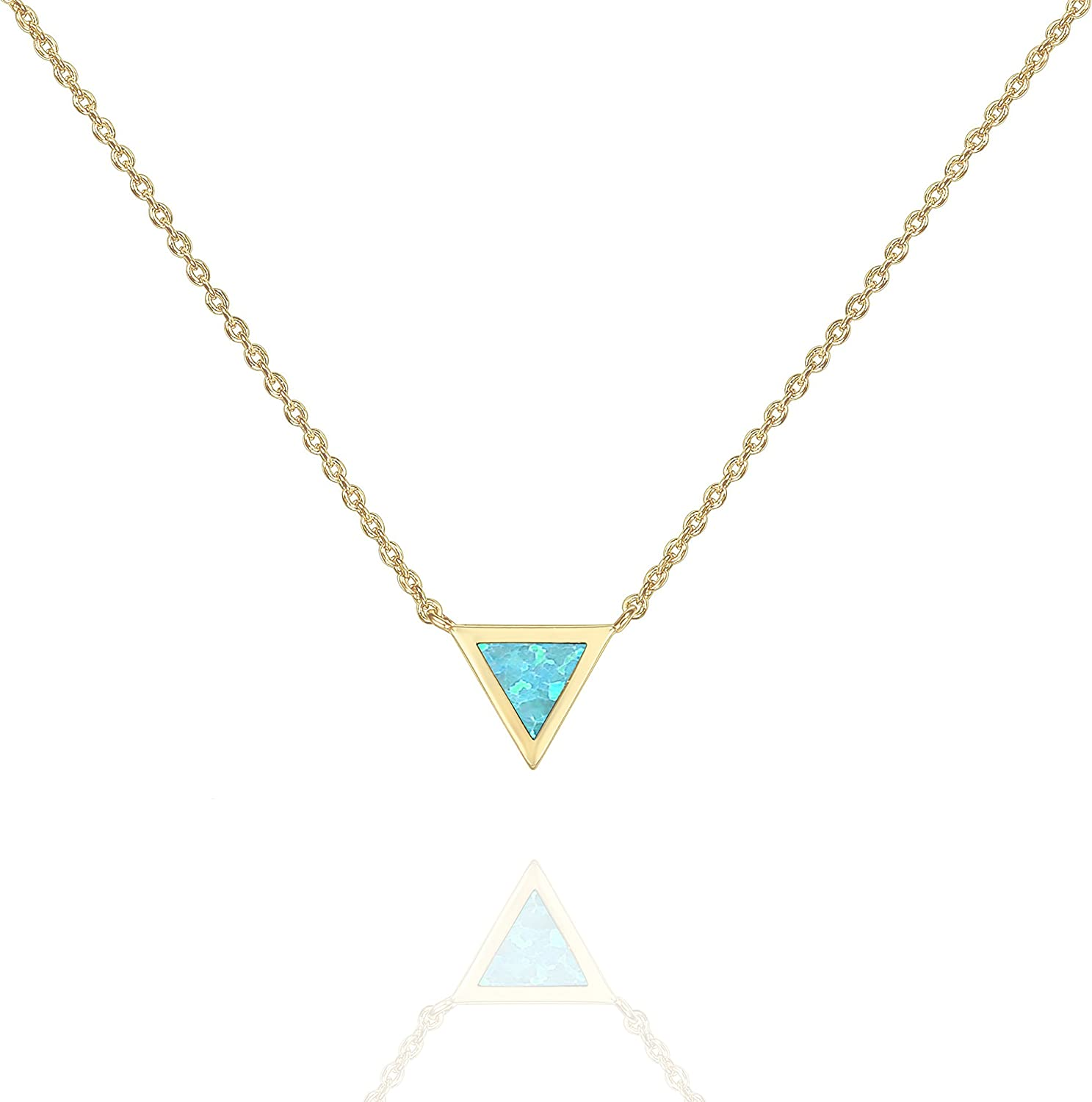 PAVOI 14K Gold Plated Created Opal Necklace | Opal Necklaces for Women