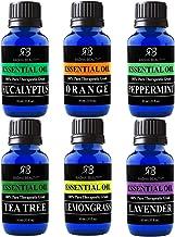 Radha Beauty Aromatherapy Top 6 Essential Oils (Lavender, Tea Tree, Eucalyptus,..