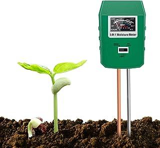 Xddias Bodentester, 3 In1 Pflanzen Feuchtigkeit Messgeraet, Boden pH..