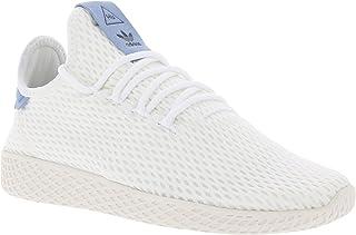buy popular 89c2c 0d93b adidas Originals Pharrell Williams Tennis Hu White Blue Textile Youth  Trainers