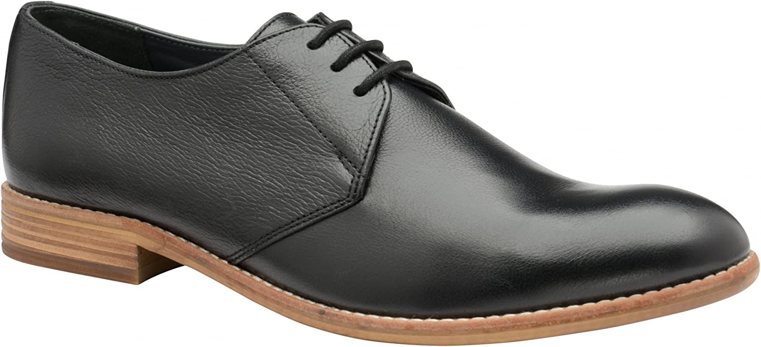 Frank Wright Pitt Black Leather Derby shoes