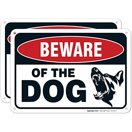 938 BEWARE OF DOG Metal Aluminium Plaque For Door Gate Wall House Sign Garden