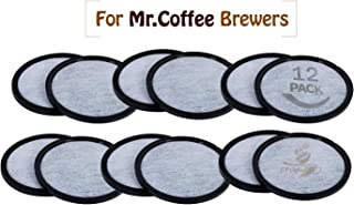 Replacement Charcoal Water Filter Discs for Mr. Coffee Machines - Universal Fit Mr Coffee Compatible Filters - Mr Coffee Coffee Brewers (12 Pack)