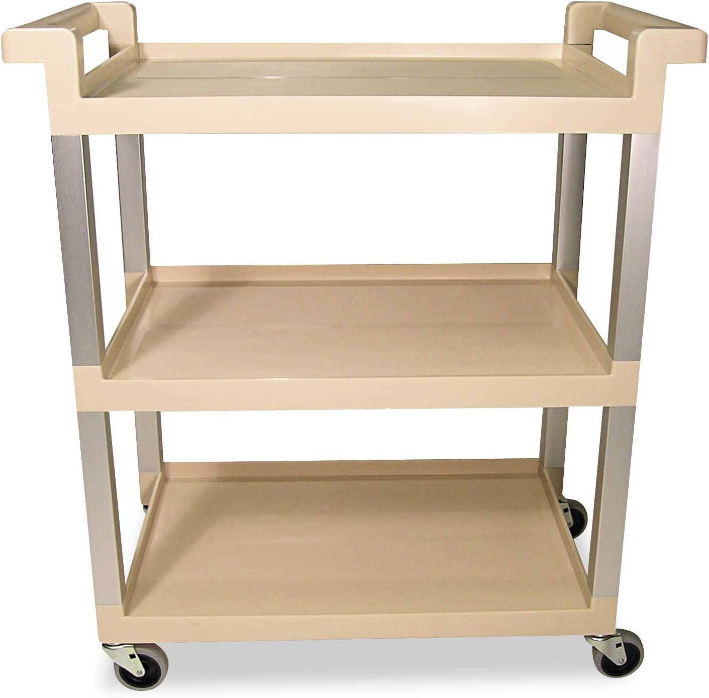 Rubbermaid 9T6571BG Very popular Ranking TOP19 Three-Shelf Service Brushed w Cart Aluminum