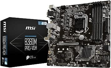 MSI B360M PRO-VDH Desktop Motherboard Intel Chipset Socket H4 LGA-1151