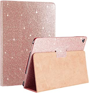 iPad Air 1/2 Case Glitter, FANSONG iPad Cases 5th 6th Generation Bling Sparkle Leather [Flip Stand] [Auto Sleep/Wake] Univ...