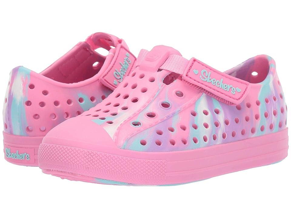 SKECHERS KIDS Guzman 2.0 Swirly Brights (Toddler/Little Kid) (Pink/Multi) Girl