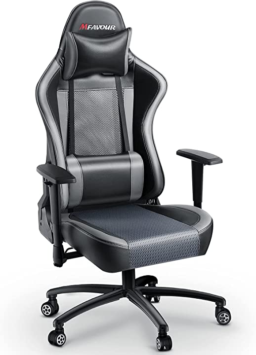 Sedia gaming poltrona gaming sedia lussuosa per i giocatori schienale e sedile in rete traspirante mfavour B08DF946NY