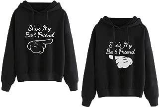 Best Friends Hoodies for Women Matching Sweaters BFF Pullover Teen Girls 2 Pcs