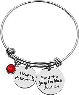 Retirement Gift Happy Retirement Bracelet Bangle Stainless Steel Adjustable Bracelet Retirement Jewelry Retirement Gifts for Women