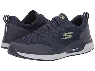 SKECHERS Go Run Steady (Navy/Lime) Men