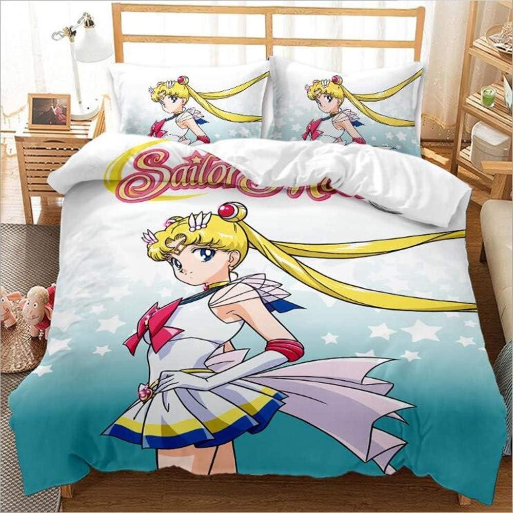 オーバーのアイテム取扱☆ Viuseay Anime Sailor Moon Girls Cute Ch Bedding Pillowcases 賜物 Sets