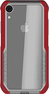 Ghostek Cloak Slim Clear Wireless Charging Case Designed for Apple iPhone XR - Red