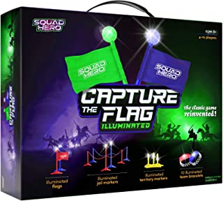 Light-up Capture The Flag Game Illuminated - Glow in The Dark Fun Outdoor Sports Game for Family, Birthday Parties & Youth...