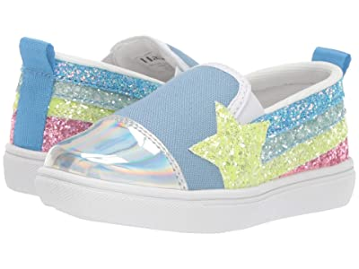 Hatley Kids Shooting Star Slip-On Sneaker (Toddler/Little Kid) (Blue) Girl