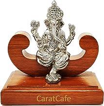 Carat Cafe Lord Ganesha Ganpati Elephant God Idol Pure Silver 999 Statue,BIS Hallmark Certified for Puja Temple Good Luck ...