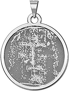 PicturesOnGold.com Shroud of Turin Religious Medal - 2/3 Inch Size of Dime, Sterling Silver