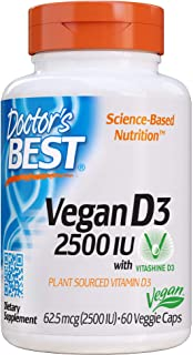 Doctor's Best Vitamin D3 2500IU with Vitashine D3, Non-GMO, Vegan, Gluten Free, Soy Free, Regulates Immune Function, Suppo...