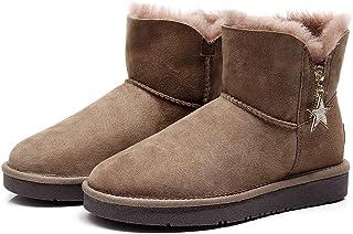 Best Gift Choice UGG Mini Bailey Bow Star Boot- Premium Australian Sheepskin, Anti-Slip, Super Warm and Comfort