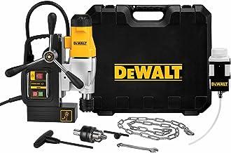 Dewalt DWE1622K-QS Columna electromagnética con Taladro Morse 1200W 50 mm, Negro y Amarillo