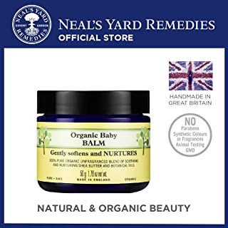 Neal's Yard Remedies Organic Baby Balm for Face and Body, Fragrance-free, Hypoallergenic, Dermatologically Tested
