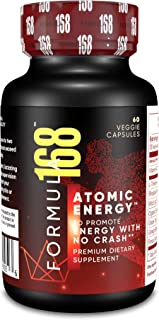 Formula168 - Atomic Energy (60 Veggie Caps) No Crash or Jitters Energy Booster for Brain & Body | Pharmacist Formulated Super Blend for Men & Women | Increase Metabolism for Weight Loss & Focus