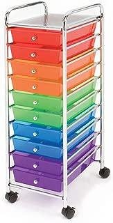 Seville Classics 10-Drawer Organizer Cart, Multi Color
