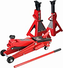 SUV 3 Ton Floor Jack With 3 Ton Jack Stands Heavy Duty Set Large SUV Truck Lift Torin Brand