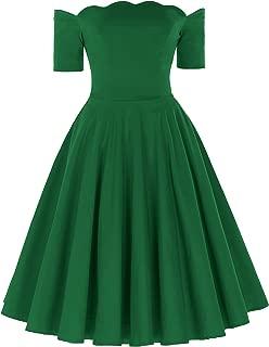 Women's Off Shoulder Swing Dress Party Picnic Dress