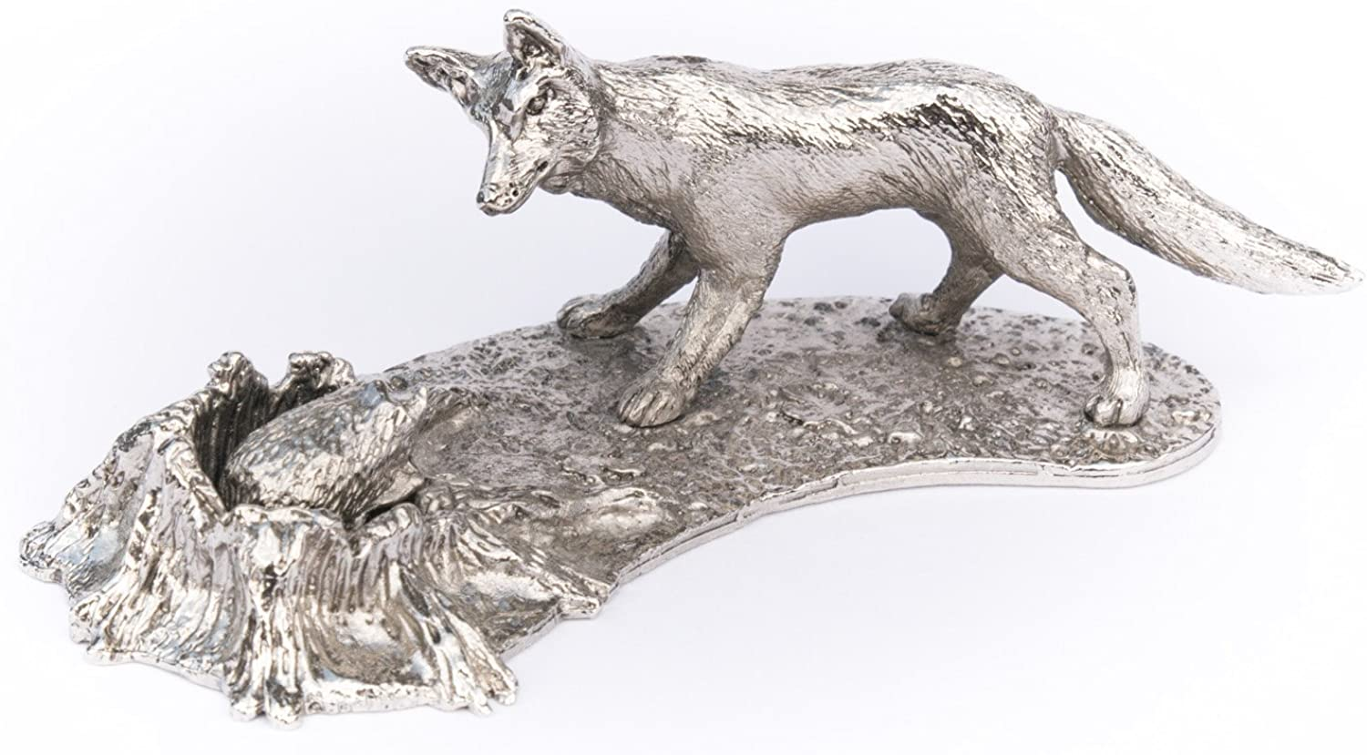 Fox and hedgehog (scene) Made in UK Artistic Style Animal Figurine Collection