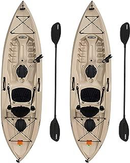 Lifetime 90806 Tamarack Angler 100 Fishing Kayak - 2 Pack (Paddles Included)