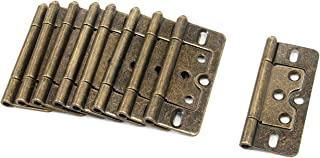 """Hinges Karcy Non-Mortise Hinges 3.2x1.3""""(LxW) Metal Removable Hinge Bronze 8 pcs"""