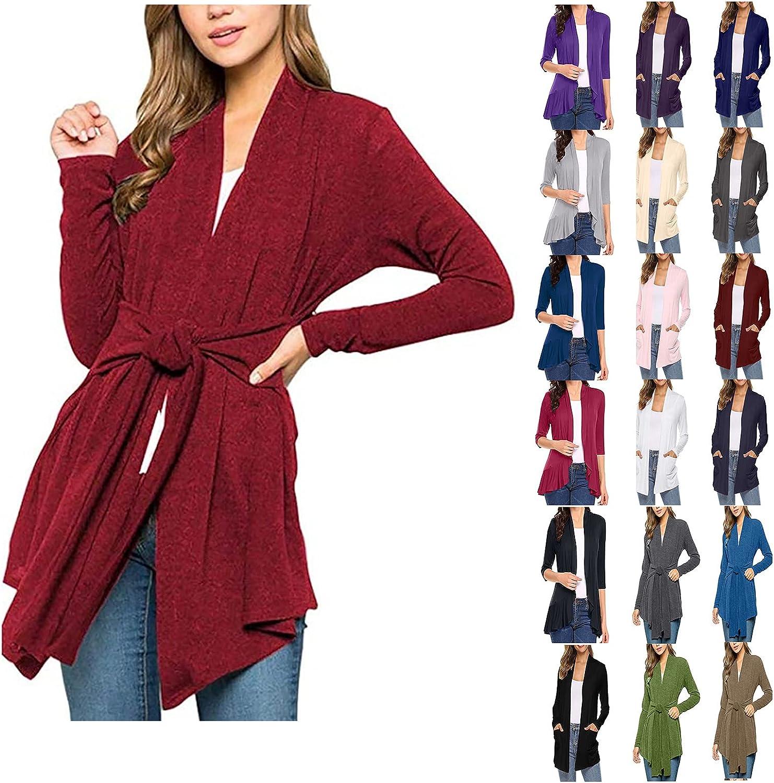 Womens Oversize Longsleeve Open Front Cardigan Lightweight Sweater with Pockets Halloween Print Casual Away Coat