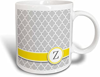 3dRose 154592_1 Your Your Personal Name Initial Letter Z Mug, 11 oz, Grey
