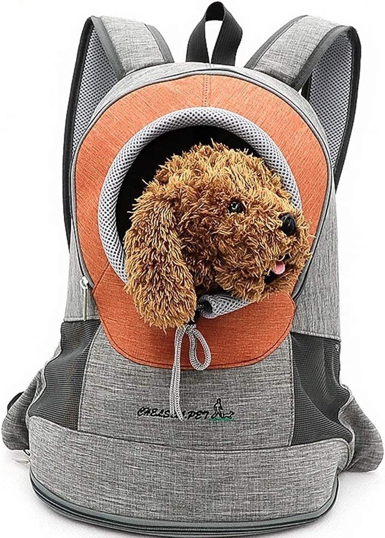 Outcrop Pet Out Portable Chest Bag Cat Bag Dog Chest Shoulder Bag (color   Yellow, Size   43  22  34cm)