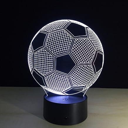 YJH+ ナイトライトフットボールクリエイティブクリスタル3Dテーブルランプ、タッチナイトライト 美しく寛大な ( 色 : A )