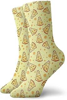 Dydan Tne, Niños Niñas Locos Divertidos Pizza Calcetines de Queso Calcetines Lindos del Vestido de la Novedad