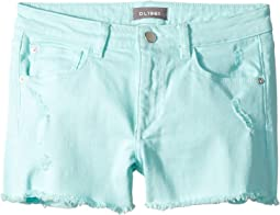 Lucy Cut Off Shorts in Bleached Aqua (Big Kids)