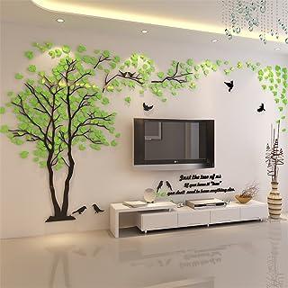 DIY 3D Riesiger Baum Paar Wandtattoos Wandaufkleber Kristall