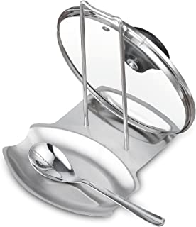 Cook N Home Stainless Steel Spoon and Lid Rest Stand Holder Rack